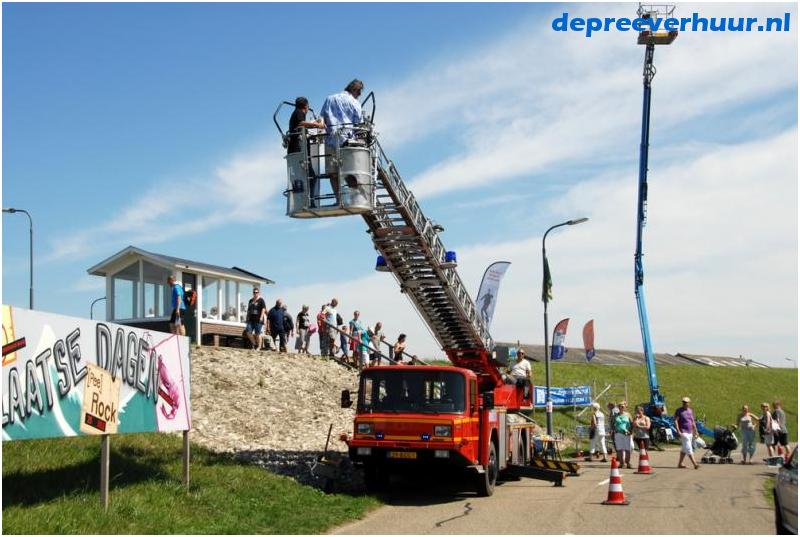 Demonstratie ladderwagen