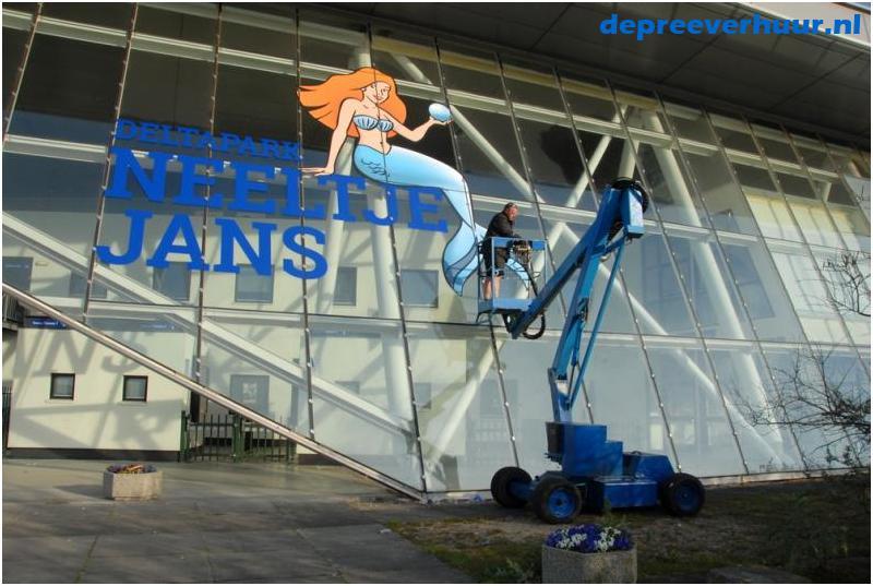 zelfrijdende knikarm telescoophoogwerker huren Zeeland