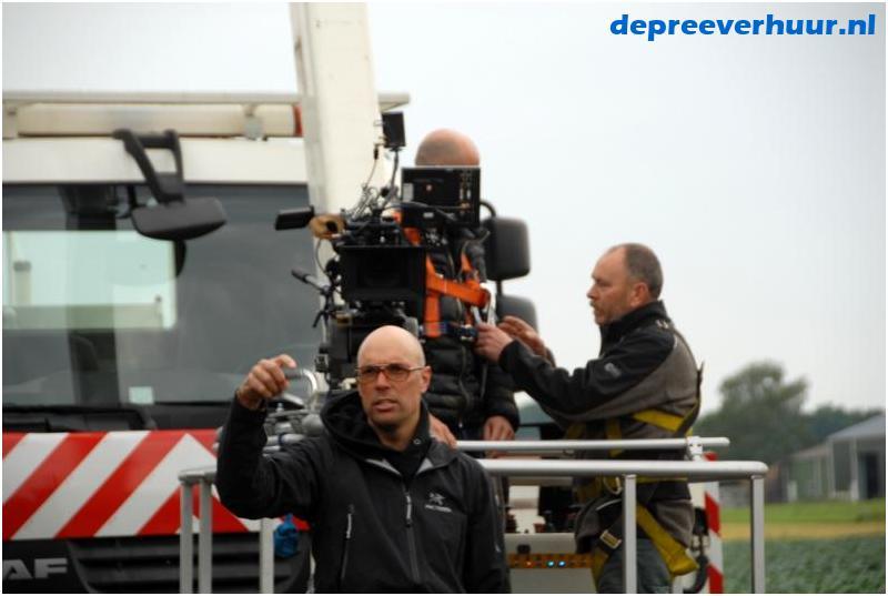 filmopname met hoogwerker