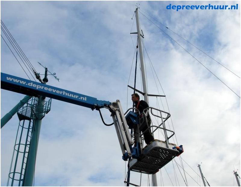 Reparatie in mast
