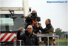 Filmopnames met hoogwerker