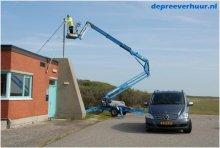 Knikarm aanhangerhoogwerker antenne plaatsen