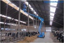 Lampen repareren in koeienstal